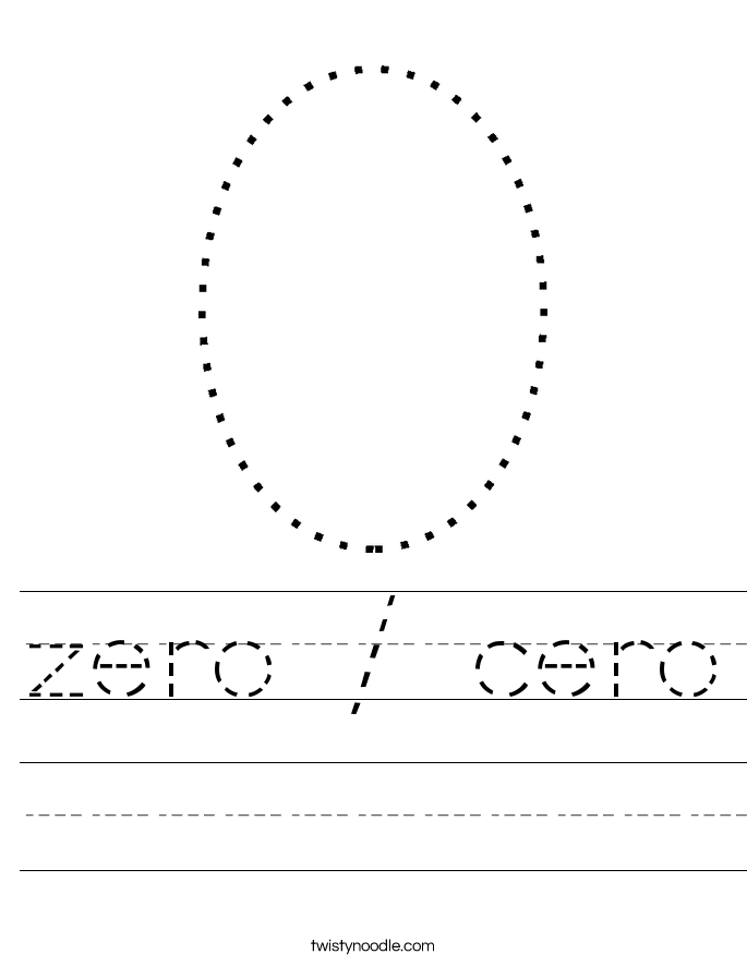 zero / cero Worksheet