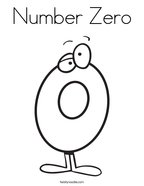 Number Zero Coloring Page