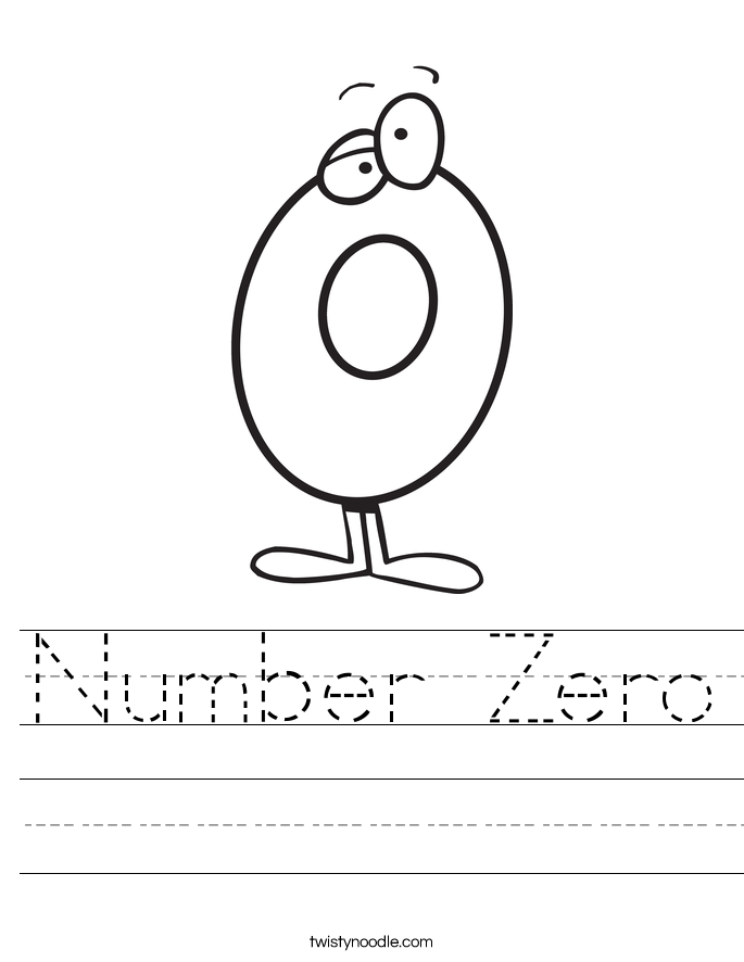 Number Zero Worksheet