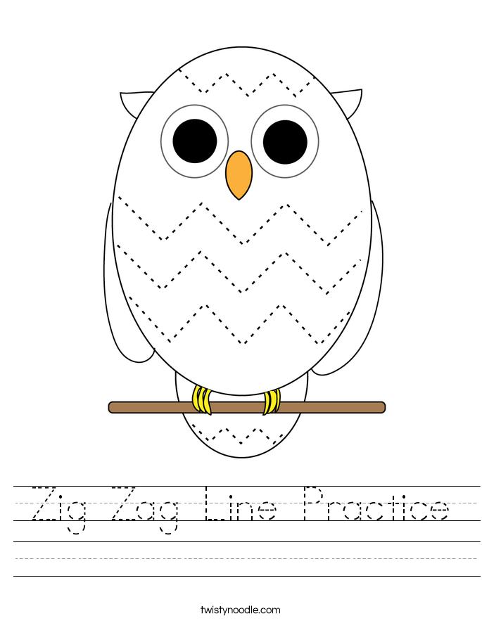 Zig Zag Line Practice Worksheet