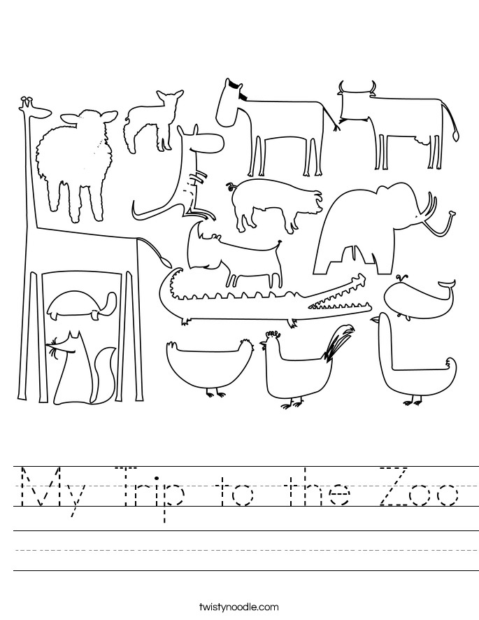 My Trip to the Zoo Worksheet