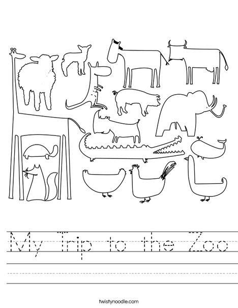 Zoo Worksheet