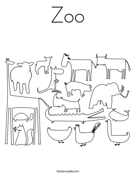 zoo coloring page