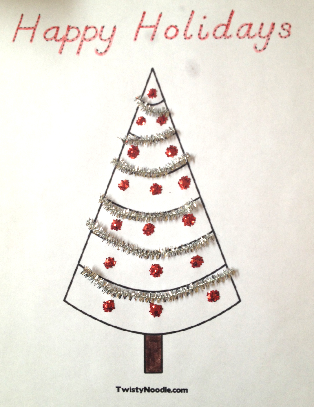 Christmas Tree Coloring Pages   Blog   Twisty Noodle
